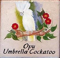 Mural for home White Parrot