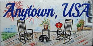 Snytown USA wall decoration