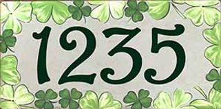 Green Irish Clover number sign