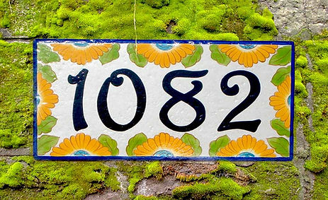 Sunflower house numbers plaque