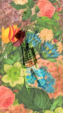 Echeveau fleurs kagemono