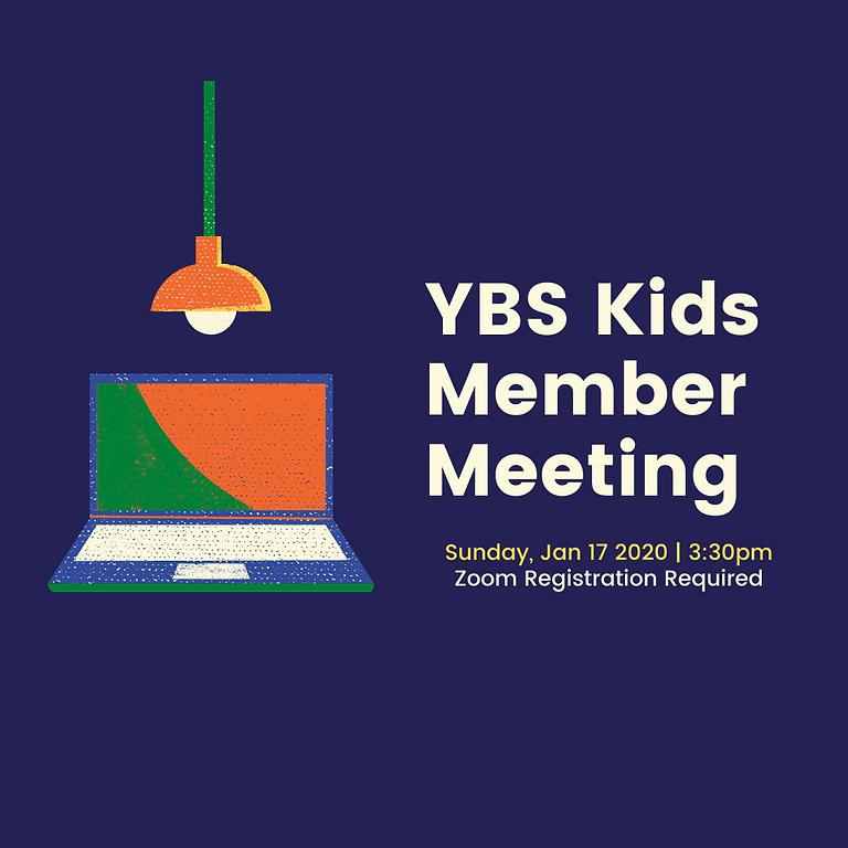 YBS Kids Member Meeting