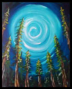 Forest Under Moonlight