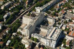 Vue aérienne de l'Hôpital Foch
