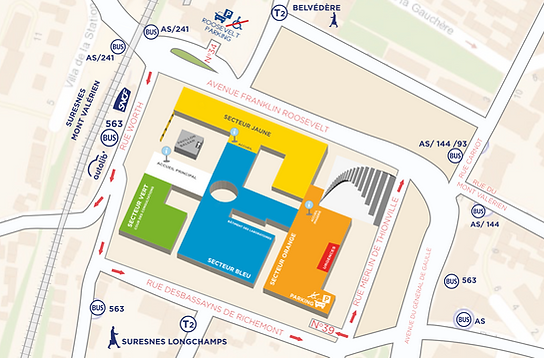 Plan d'accès de l'Hôpital Foch