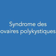 Définition , Symptomatologie :   Vos ovaires produisent beaucoup de follicules immatures (follicules antraux) mais ceux ci n'arrivent pas à maturité. Ainsi vous n'avez pas ou peu  d'ovulations. Vous n'avez pas de règles ou des cycles très espacés. Vous pouvez rencontrer des difficultés à être enceinte naturellement.     Examens complémentaires :   Sur les ovaires, un nombre important de follicules antraux est visualisé sur l'échographie pelvienne. Des prises de sang peuvent également être en faveur d'un syndrome des ovaires polykystiques.     Prise en charge :   En cas de désir de grossesses plusieurs options thérapeutiques peuvent vous être proposées en fonction de divers critères : des stimulations ovariennes par citrate de clominophène, des stimulations par FSH,  une Fécondation in vitro ou  une intervention chirurgicale . L'intervention chirurgicale pratiquée est le « drilling ovarien » qui consiste en la réalisation de petits « trous » dans les ovaires. Le drilling est réalisé lors d'une coelioscopie. Elle permet de retrouver des cycles et d'obtenir ainsi des grossesses spontanées dans environ 50% des cas.