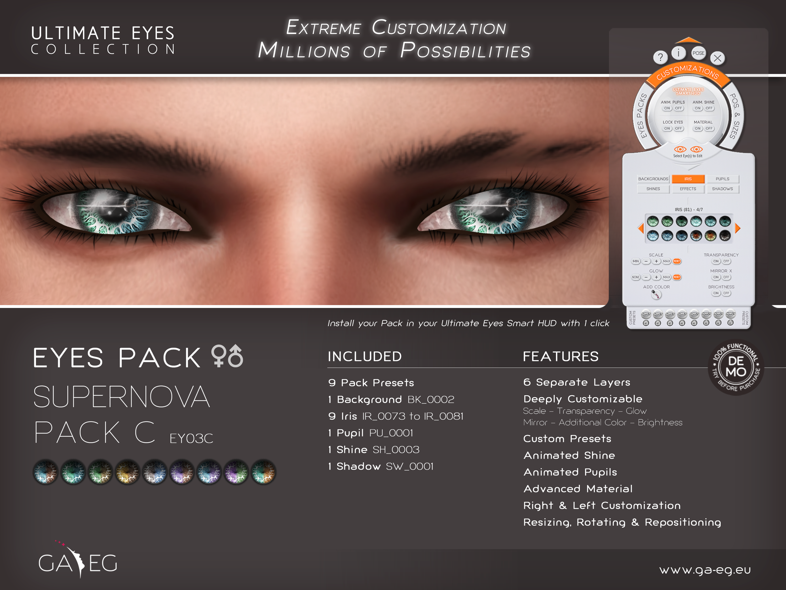 Ultimate Eyes Pack - EY03C Supernova Pack C