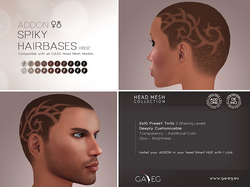 Spiky Hairbases ADDON