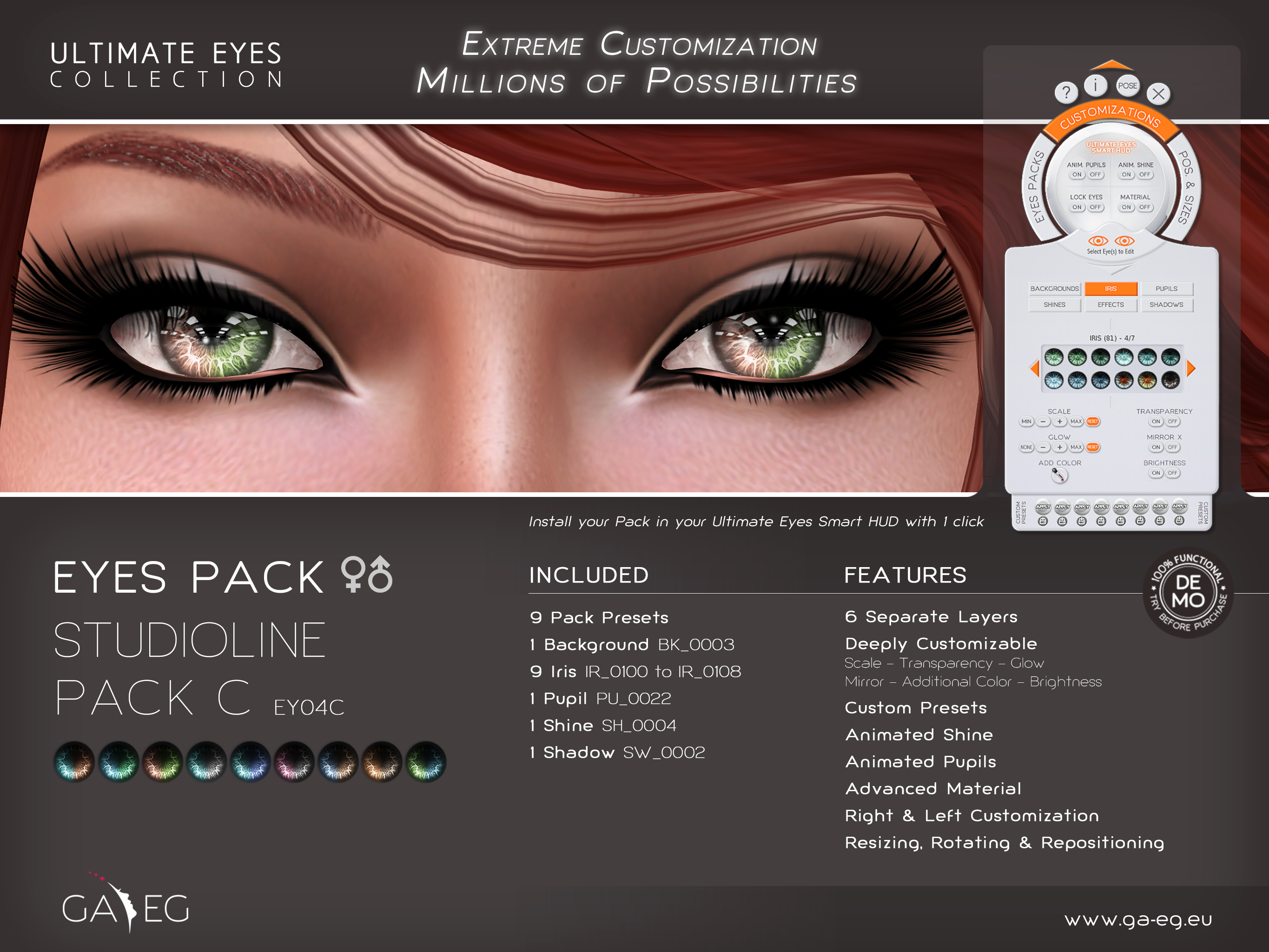 Ultimate Eyes Pack - EY04C StudioLine Pack C