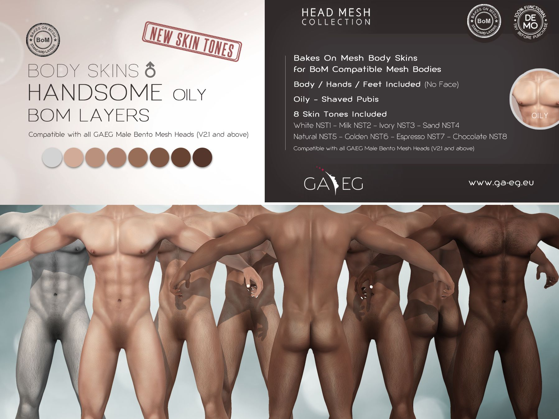 Oily Handsome BODY SKINS Signature