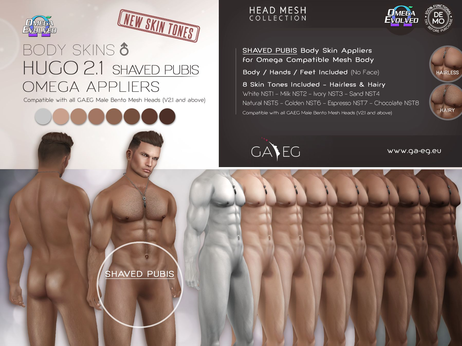 Hugo BODY SKINS SHAVED PUBIS Omega