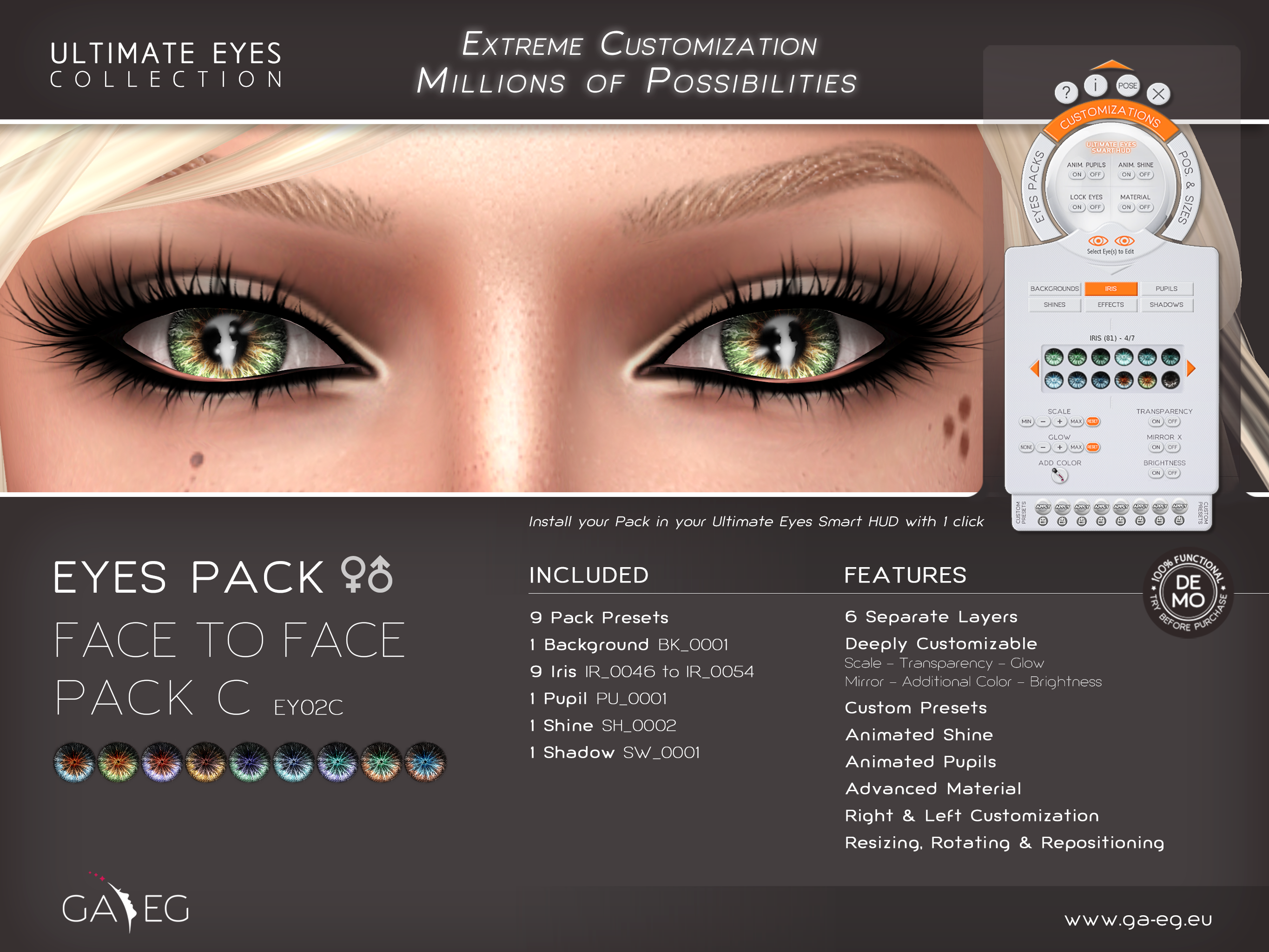 Ultimate Eyes Pack - EY02C Face To Face Pack C