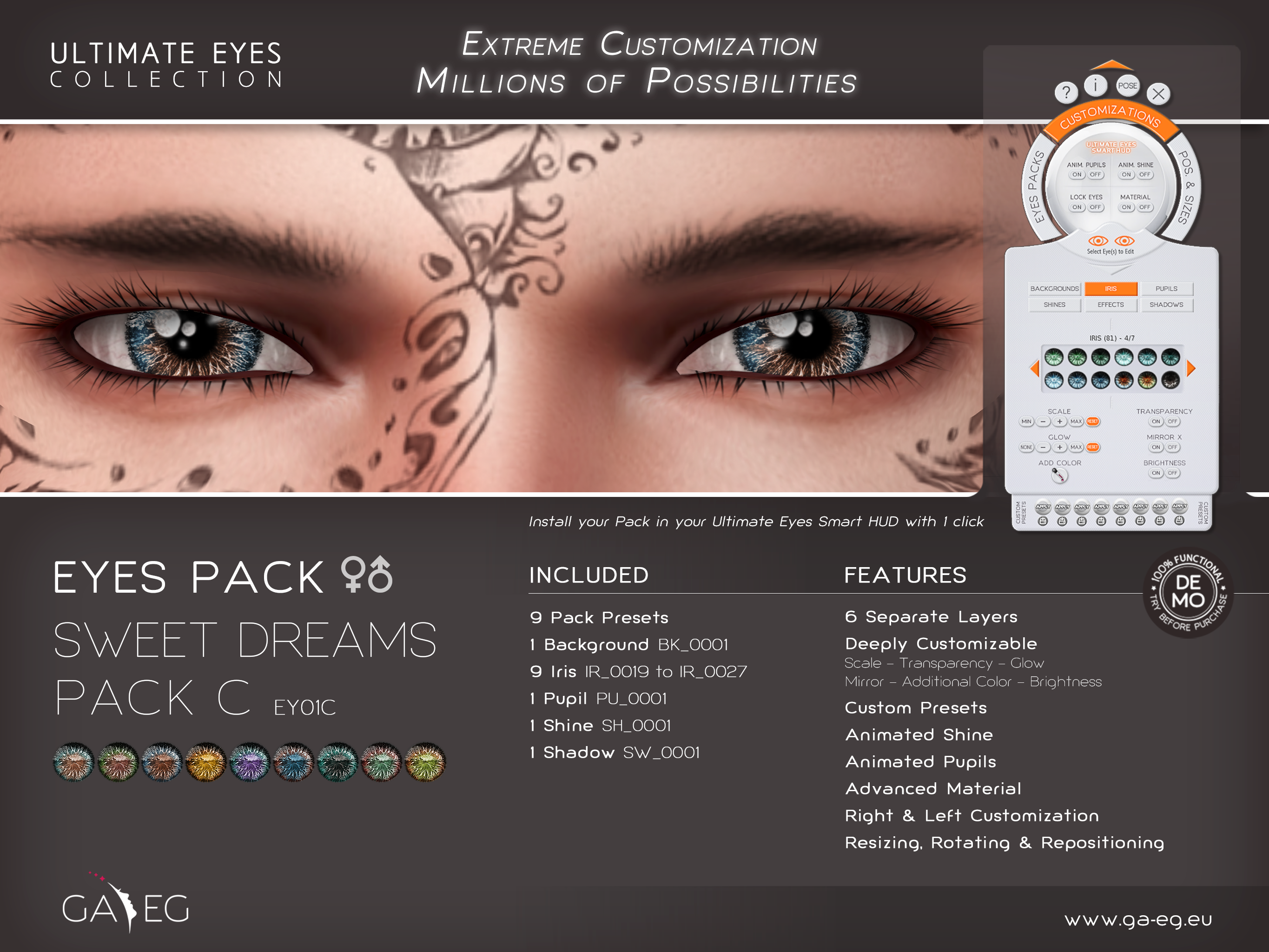 Ultimate Eyes Pack - EY01C Sweet Dreams Pack C