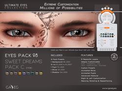 Ultimate Eyes Pack - EY01C Sweet Dreams Pack C