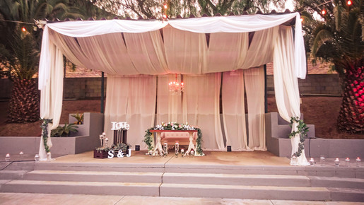Wedding venue seat of honor