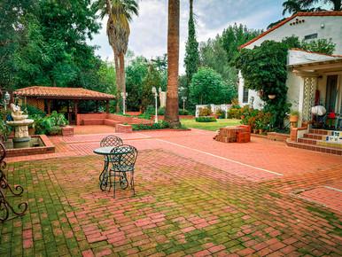 Wedding venue patio