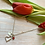 Thumbnail: Personalised silver plated valentines charm necklace