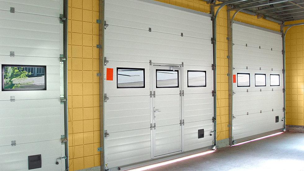 Промышленные секционные ворота Алютех 3000х3000