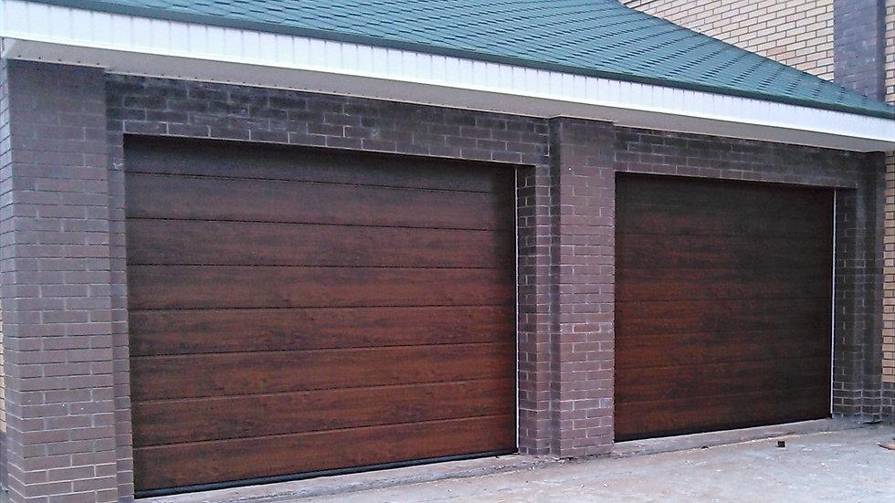 Ворота гаражные секционные Херман 2500х2250 с электроприводом