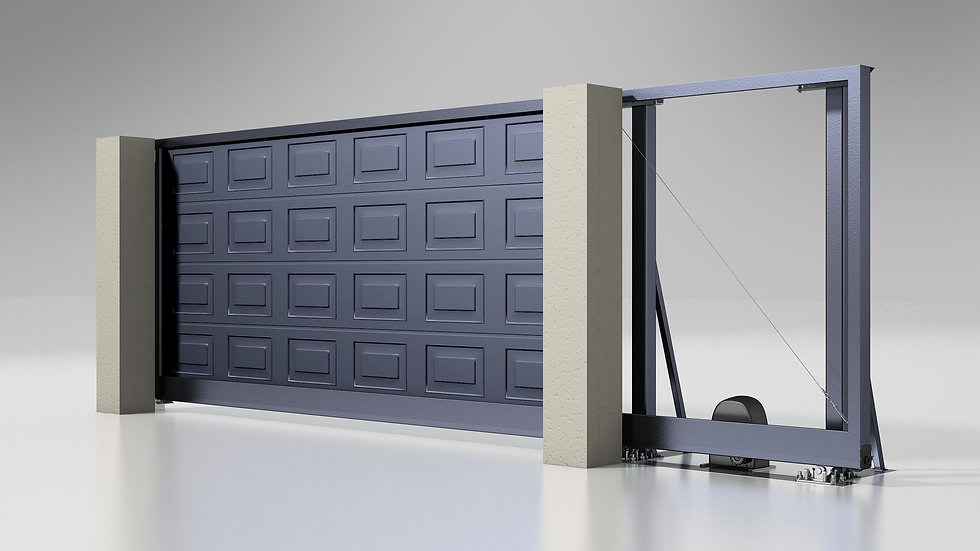 Откатные ворота Alutech Prestige 4000х2000 с электроприводом, без заполнения