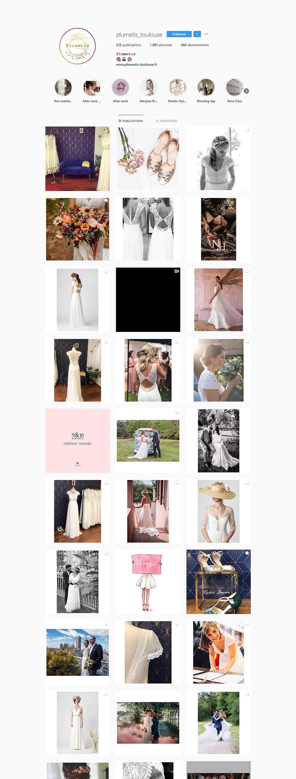 instagram plumetis toulouse robes robe de mariée mariées