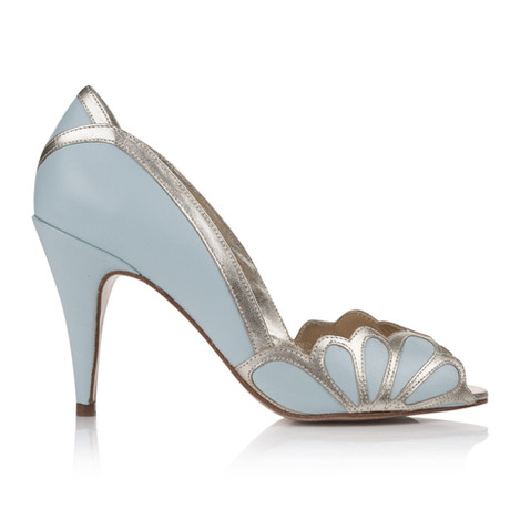 Chaussures Isabelle Ice Blue Plumetis Toulouse