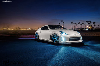 f433-brushed-turquoise-nissan-370z-front