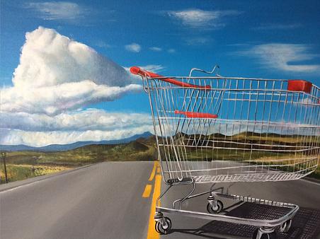 Shopping trolley. Trolley pinting