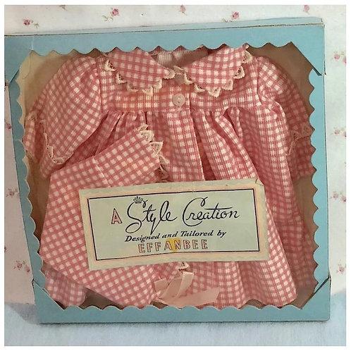 """1940's PRISTINE in Box 15"""" Effanbee Dy-Dee Jane Coat & Bonnet Set"""