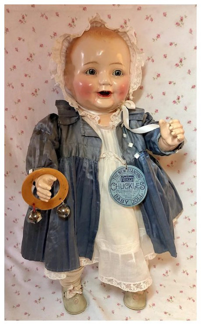 "1920's Century Doll Co 22"" CHUCKLES All Original Near MINT"