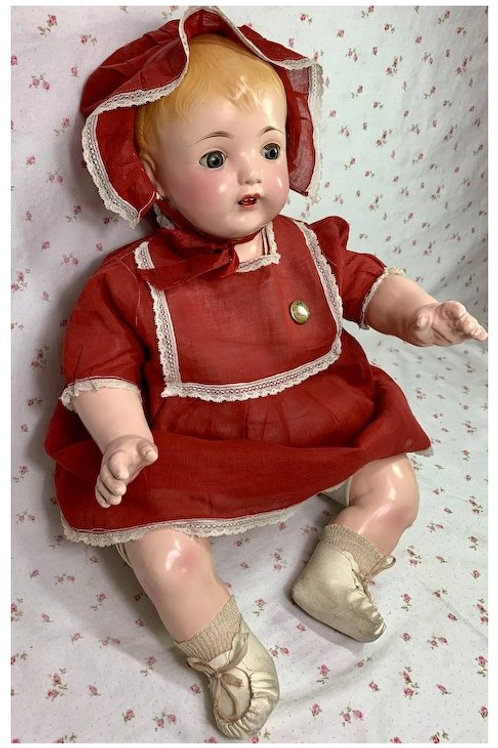 "Vintage 21"" Effanbee 1923 Composition MaMa Baby Doll"