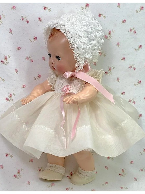 "1950's Organdy Party Dress for 11.5"" Tiny Tears / Dy-Dee and Friends"