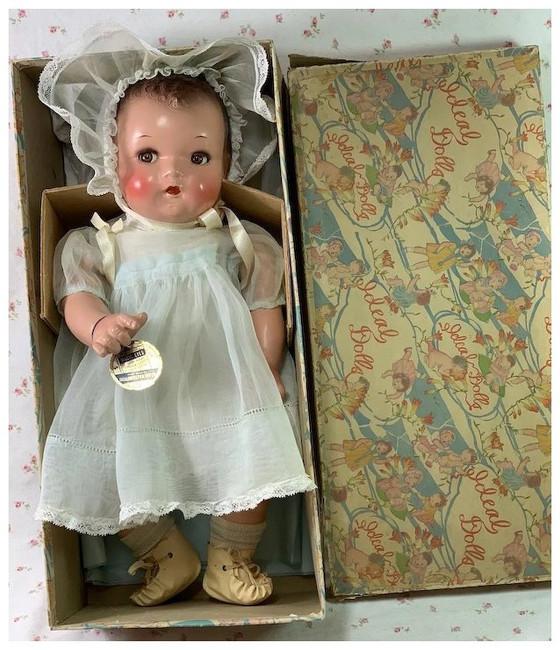 "IDEAL 16"" Flirty Eye 1930s Princess Beatrix Baby Doll"