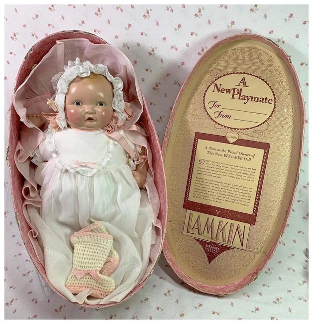 "1930's Effanbee LAMKINS Lambkins 16"" Composition Doll"