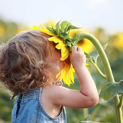 Kid and sunflower.jpg