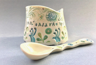 'Mad Hatter' Bowl and Spoon