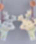 Sari reindeer, stags, deer, patterned, porcelain, ceramic, christmas
