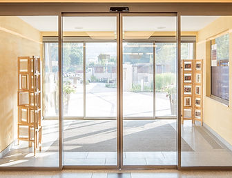 Commercial glass store fronts, office doors and partitions