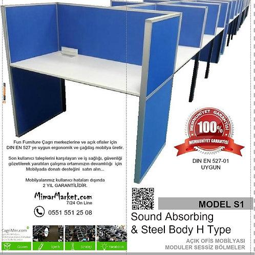 Model S1 Standart Çağrı merkezi masası