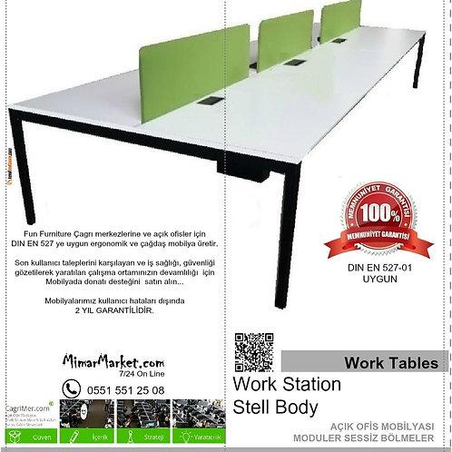 Model WT - Work Station masalar, Toplantı masaları