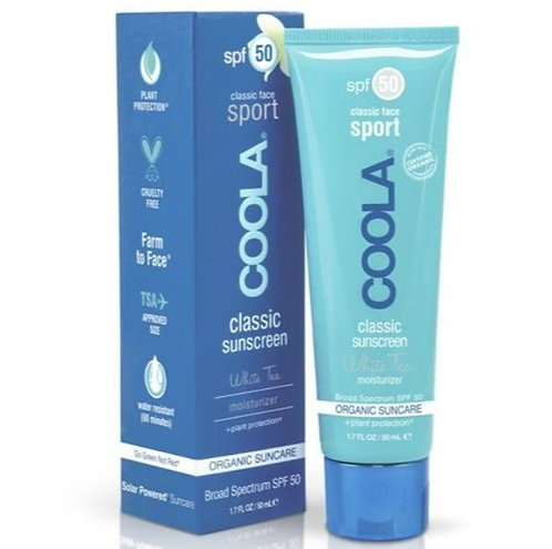 Sport Face SPF 50 White Tea Organic Sunscreen Lotion