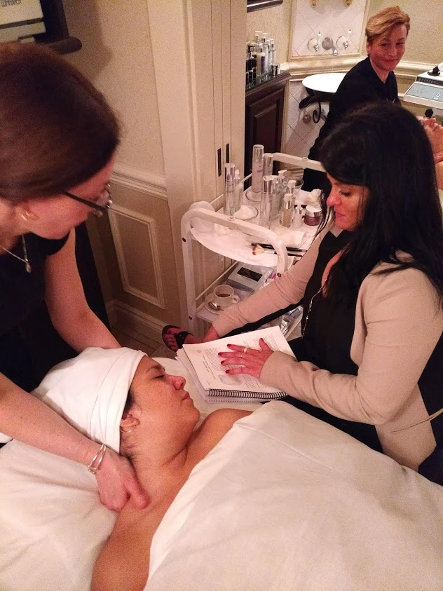 spa at old mill 111SKIN education