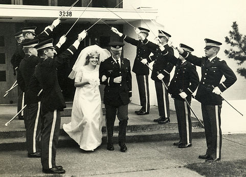 Willliam and Bonnie Chandler Military Wedding Aug 2, 1968 Ft. Lewis