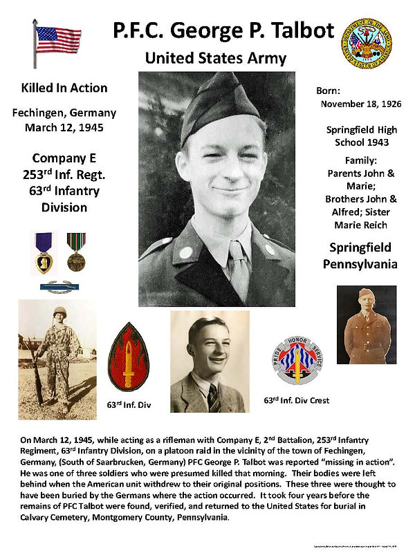 Talbot George P Memorial Page 23 May 202
