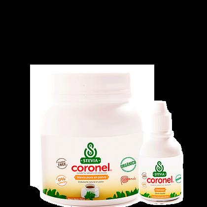Stevia Coronel Pura (Polvo y Gotas)