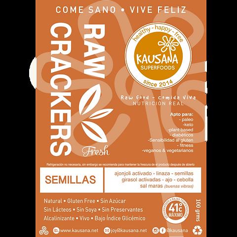 crackers de semillas activadas