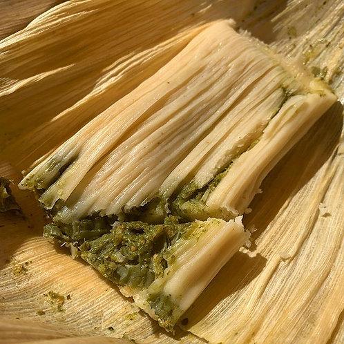 Nopales (Tender Cactus) & Salsa Verde Tamal Half Dozen