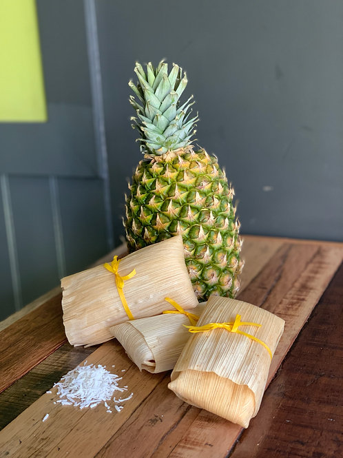 Pineapple & Coconut Tamal Half Dozen