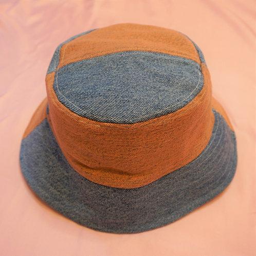 Orange & Blue Denim Bucket Hat