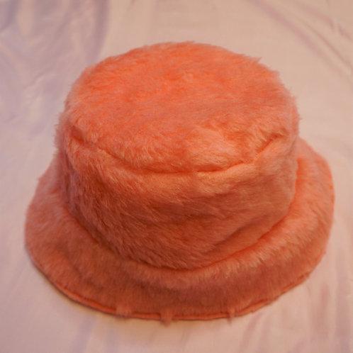 Pink Faux Fur Bucket Hat